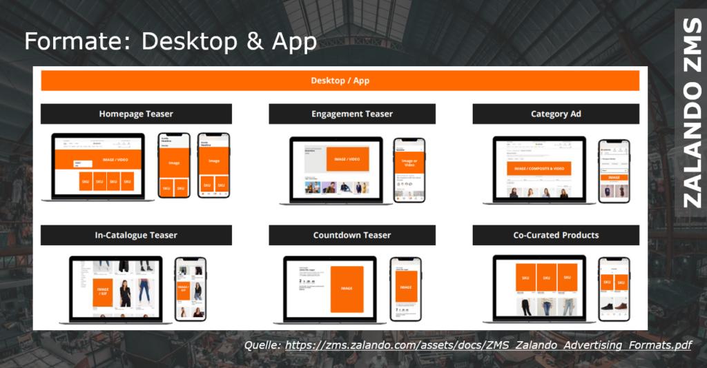 Die unterschiedlichen Formate im Vergleich Desktop vs. Mobile