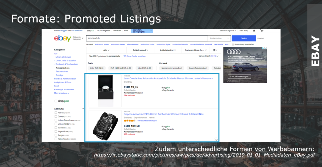 Promoted Listings bei eBay