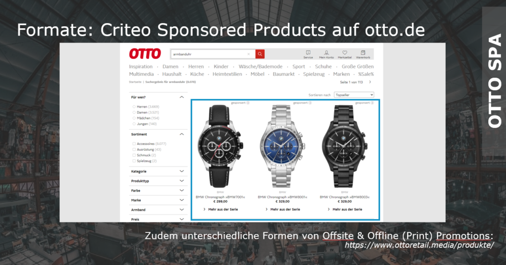 Sponsored Products auf otto.de
