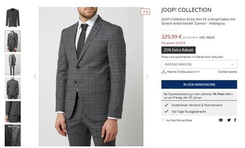 EIn männliches Model trägt einen Anzug.