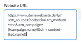 Eine Website-URL.